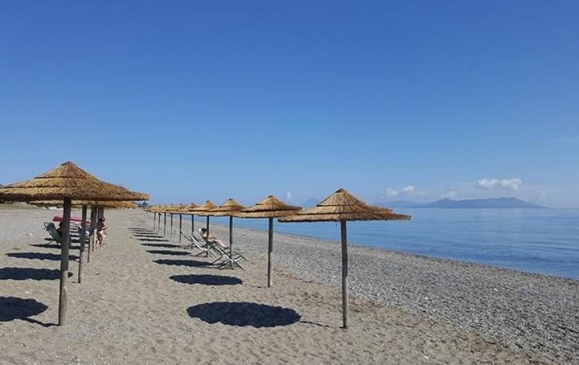 Location de vacances - Bungalow - Mobilhome à Monforte San Giorgio - Notre plage privée