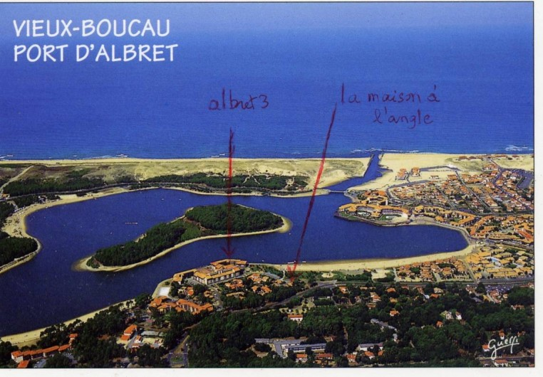 Location de vacances - Villa à Vieux-Boucau-les-Bains - Lac marin et mer avec emplacement  de la maison