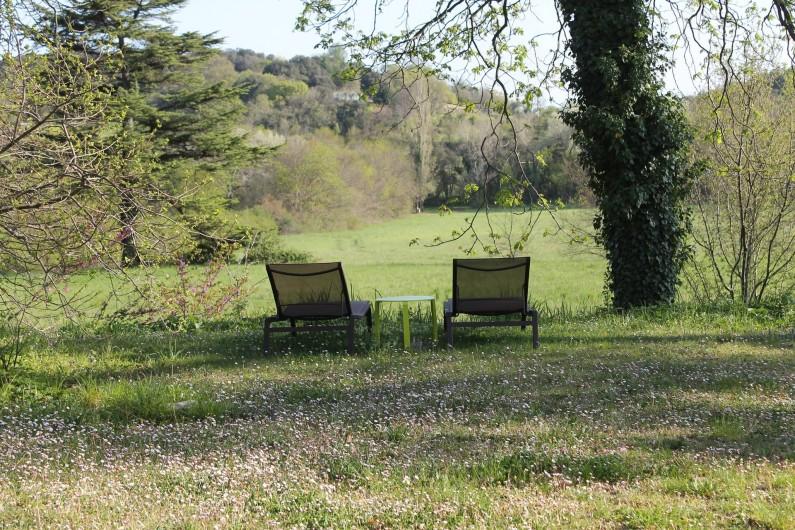 Location de vacances - Chambre d'hôtes à Saint-Félix-de-Pallières - Vue du parc