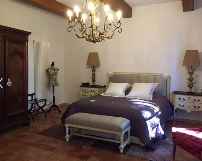Location de vacances - Chambre d'hôtes à Saint-Félix-de-Pallières - Chambre Tilleul