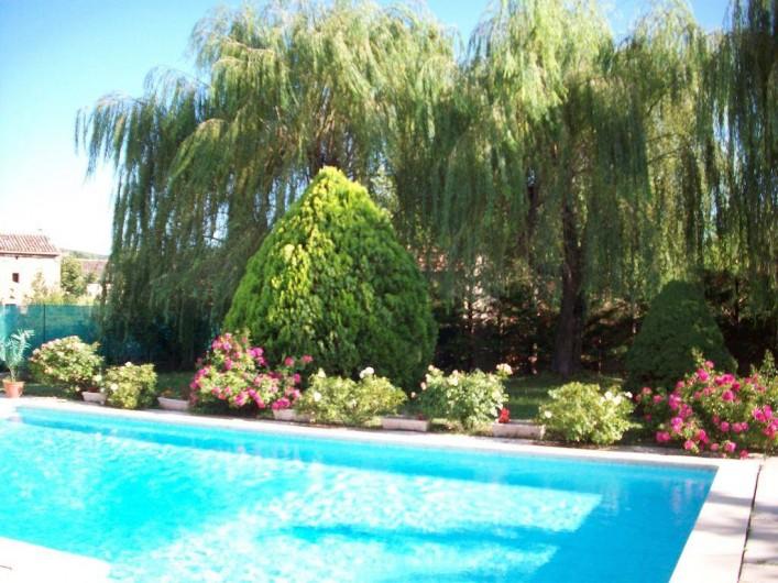 Location de vacances - Villa à Allègre-les-Fumades - Piscine et jardin