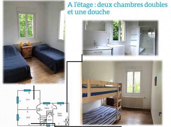 Location de vacances - Maison - Villa à Dieppe - plan 1er étage