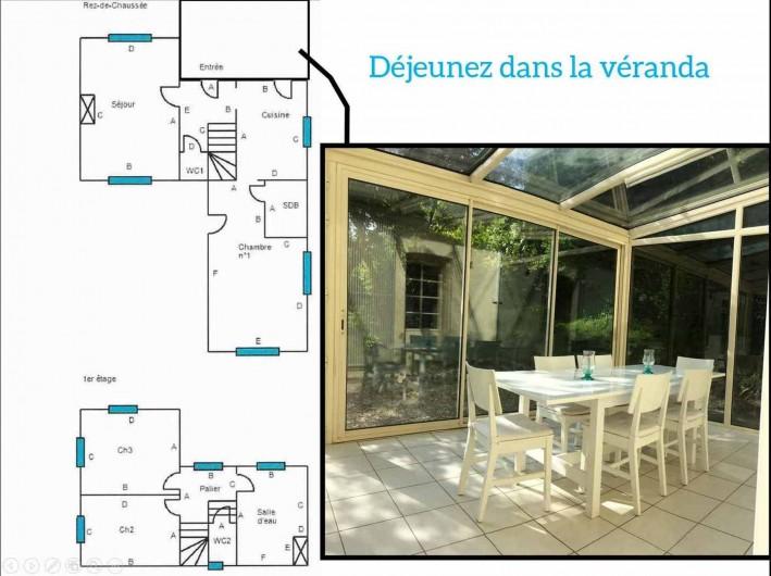 Location de vacances - Maison - Villa à Dieppe - plan Véranda