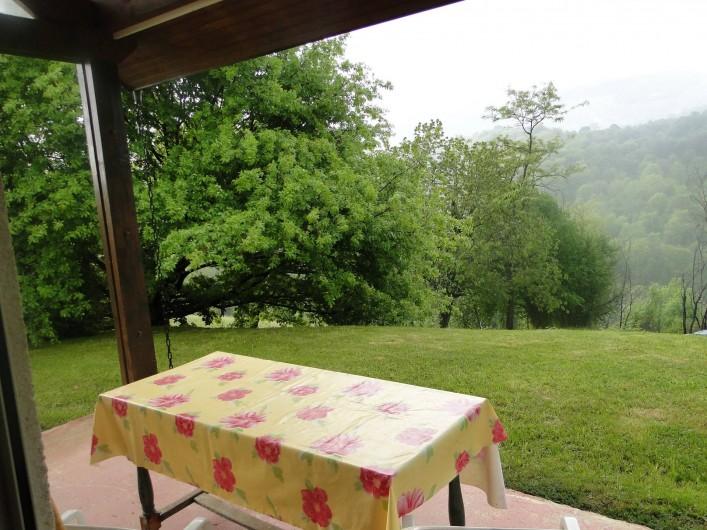 Location de vacances - Chalet à Uzer - Terrasse couverte