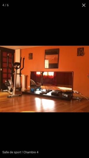 Location de vacances - Villa à Aubervilliers - Chambre 4 et salle de sport 1 matelas d'appoint king size et 1 lit simple
