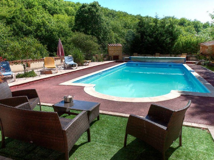 Location de vacances - Villa à Souillac - Piscine au sel, chauffée et clôturée