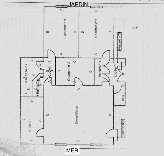 Location de vacances - Appartement à Dinard - plan de l'appartement