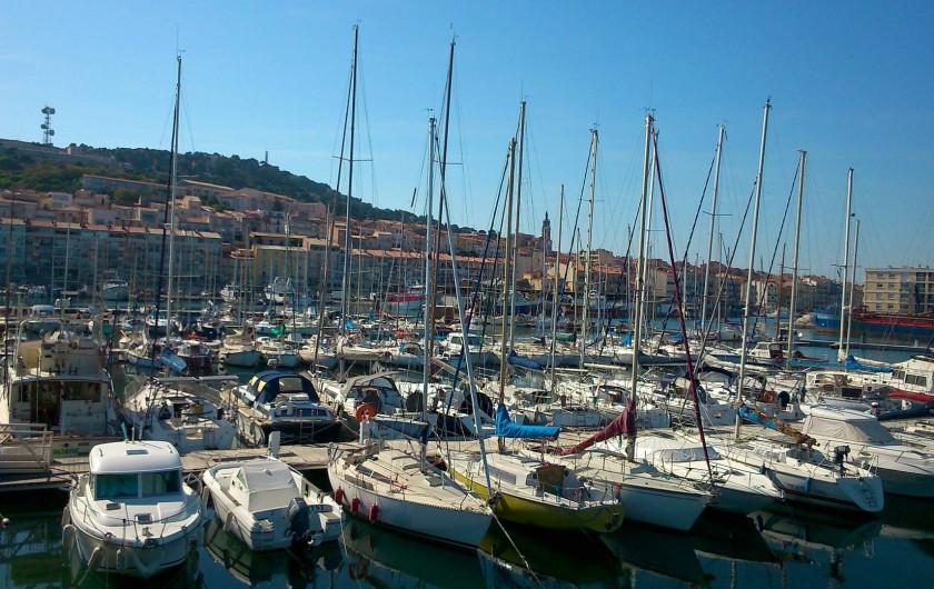 Location de vacances - Péniche à Sète - Le port de Sète !