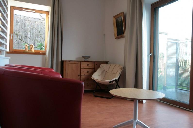 Location de vacances - Gîte à La Chapelle-aux-Filtzméens - Maison de la Passerelle Suite parentale avec son coin chambre 27 m2