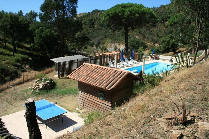 Location de vacances - Mas à Sainte-Maxime - la piscine - la table de tennis