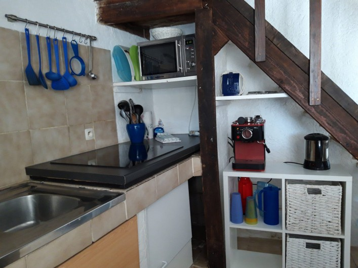 Location de vacances - Mas à Sainte-Maxime - la salle à manger - le salon
