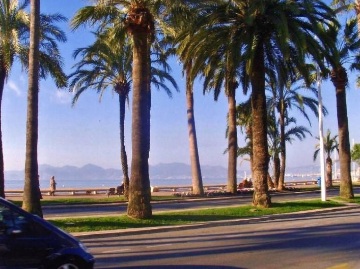 Location de vacances - Appartement à Cannes - Vue sur La Croisette