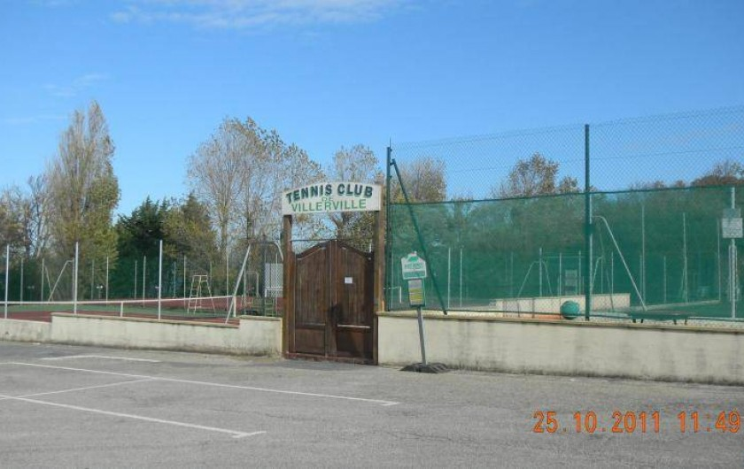 Location de vacances - Appartement à Villerville - tennis