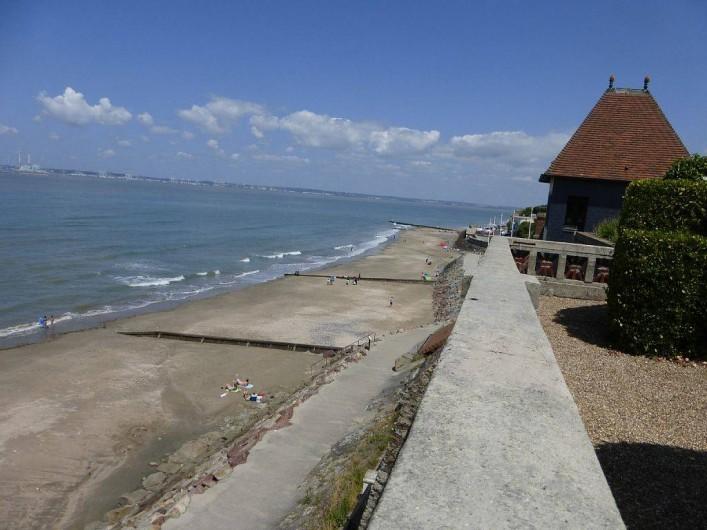 Location de vacances - Appartement à Villerville - vue de la terrasse