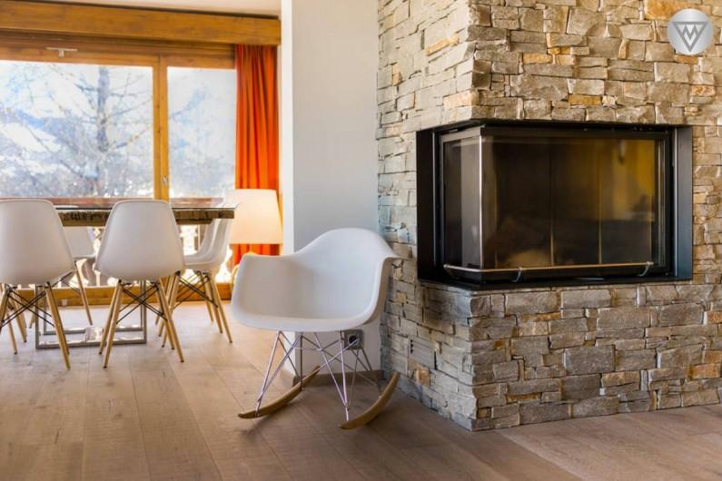 Location de vacances - Appartement à Megève - La cheminée