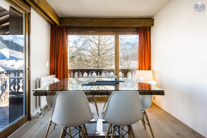 Location de vacances - Appartement à Megève - Salle à manger spacieuse pour 8 personnes