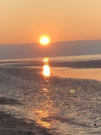 Location de vacances - Studio à Port-Deauville - Balade sur la plage avec ce joli coucher de soleil