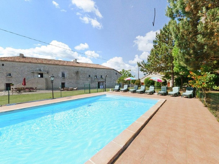 Location de vacances - Gîte à Dondas - piscine et maison dans la maison au rez de chaussée