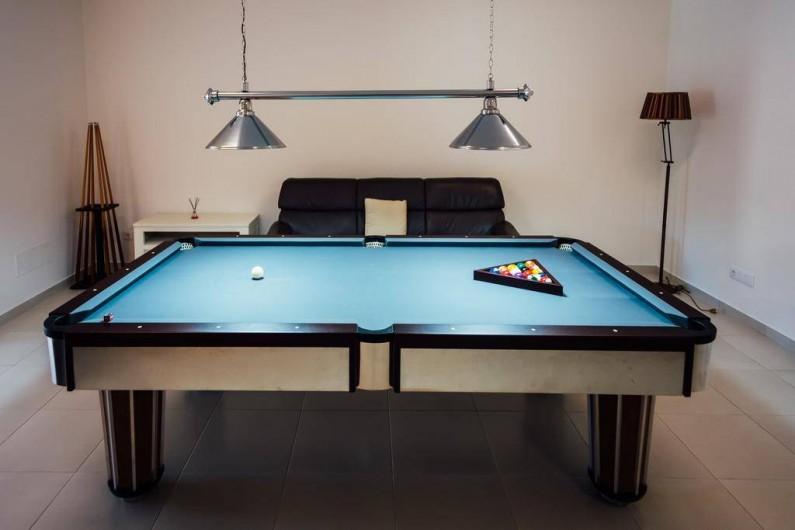Location de vacances - Villa à São Martinho do Porto - Grande salle de jeux avec Snooker et baby-foot