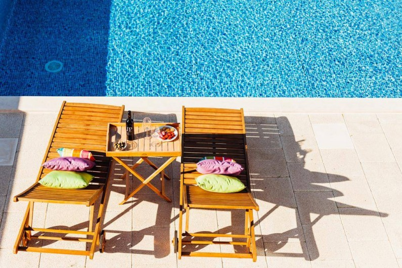 Location de vacances - Villa à São Martinho do Porto - Un petit apéro au bord de la piscine?