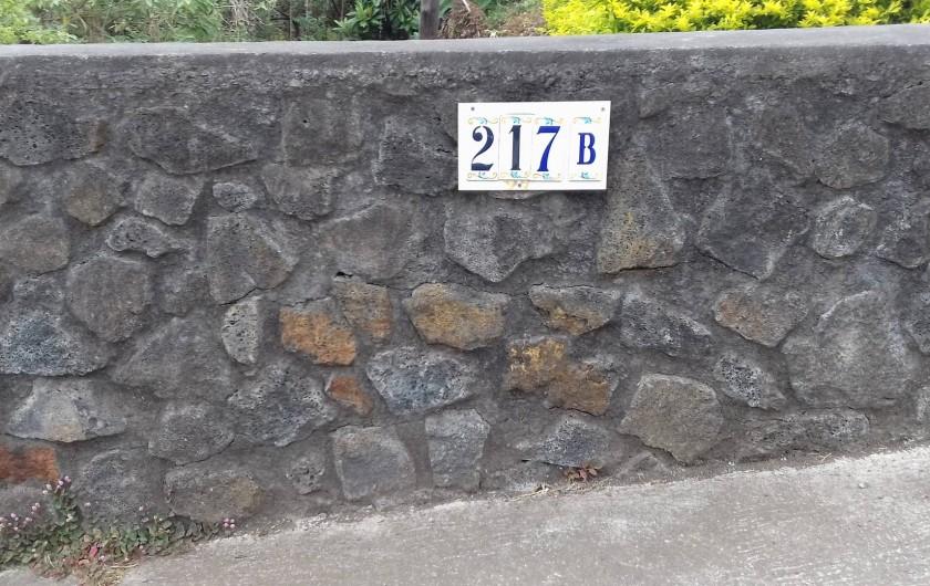 Location de vacances - Villa à La Plaine des Cafres - Le numéro de la maison