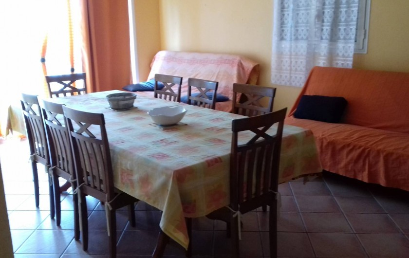 Location de vacances - Villa à La Plaine des Cafres - La salle à manger avec 2 canapés lit