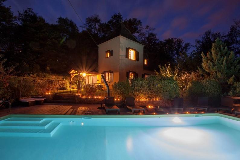 Location de vacances - Villa à Vezac - Villa Vézac de nuit