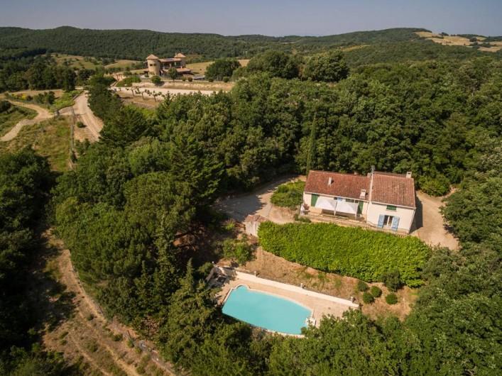 Location de vacances - Gîte à Villarzel-du-Razès - Villa avec piscine privée