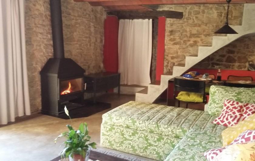 Location de vacances - Gîte à Sant Joan de les Abadesses - Salon du Loft