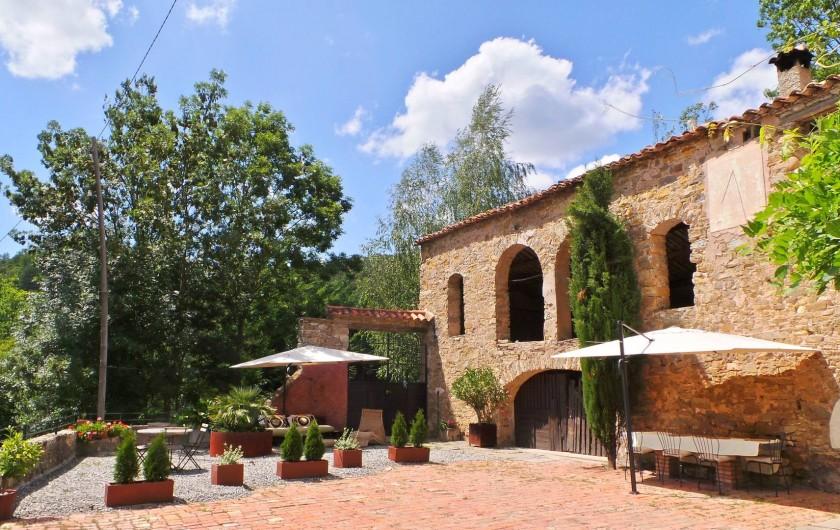 Location de vacances - Gîte à Sant Joan de les Abadesses - Cour