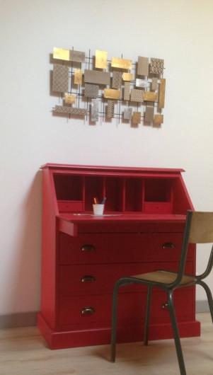 Location de vacances - Appartement à Puy-Saint-Martin - Bureau salon lecture