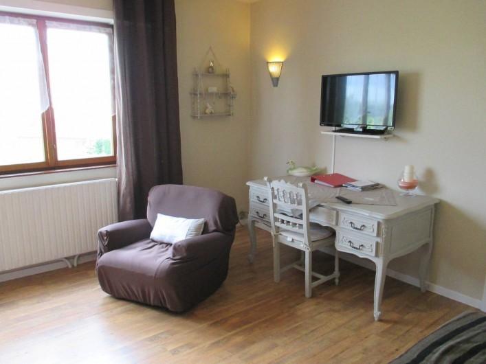 Location de vacances - Chambre d'hôtes à Monswiller - Chambre 1: Coin bureau