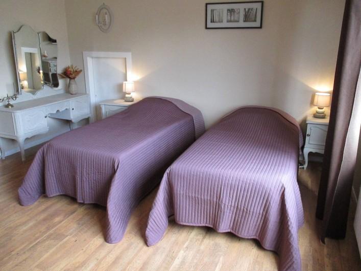 Location de vacances - Chambre d'hôtes à Monswiller - Chambre 1:  Version 2 couchages: 2 lits 100x200