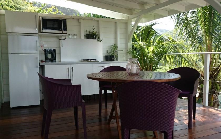 Location de vacances - Maison - Villa à Le Diamant - Cuisine avec espace repas