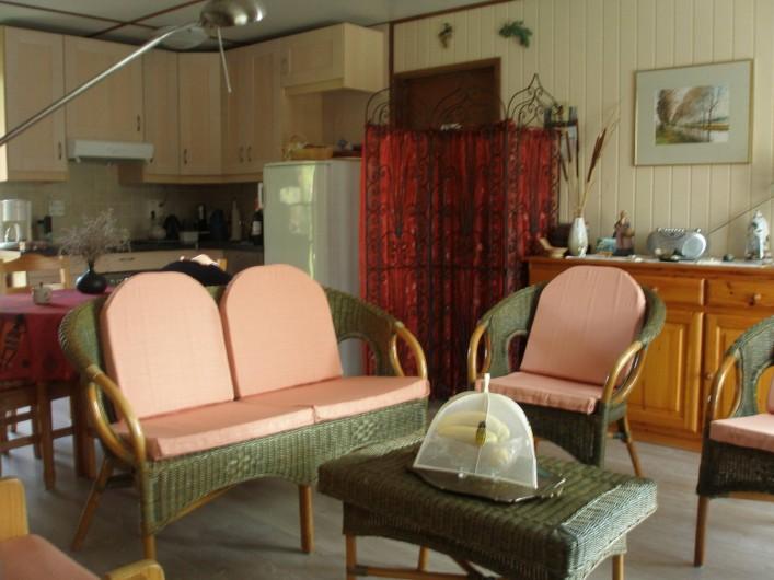 Location de vacances - Maison - Villa à Portiragnes Plage - vue du living