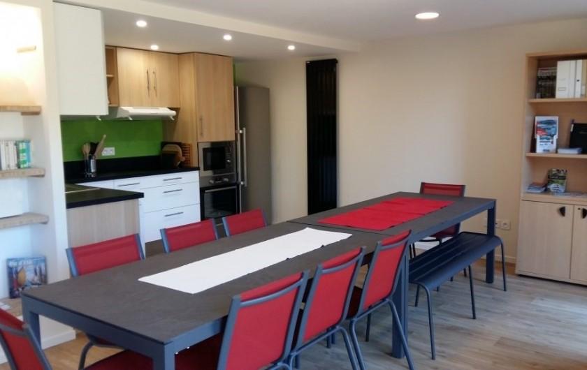 Location de vacances - Chambre d'hôtes à Locoal-Mendon - Terrasses coté chambres