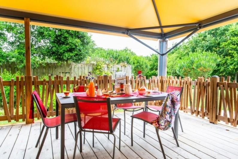 Location de vacances - Chambre d'hôtes à Locoal-Mendon - Chambre lits 90x200