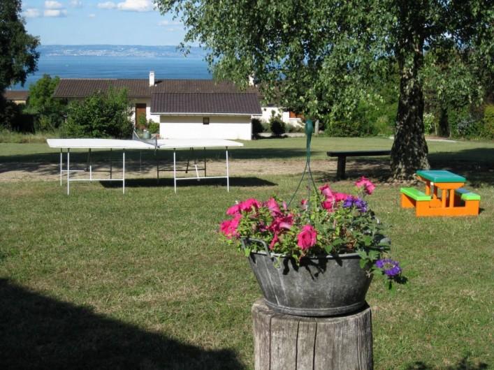 Location de vacances - Chalet à Excenevex - Pétanque + ping-pong