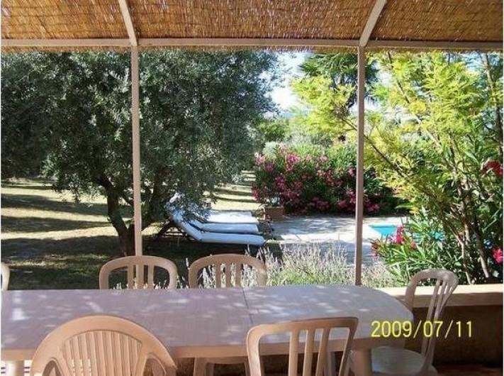Location de vacances - Maison - Villa à Mérindol - Terrasse avec barbecue