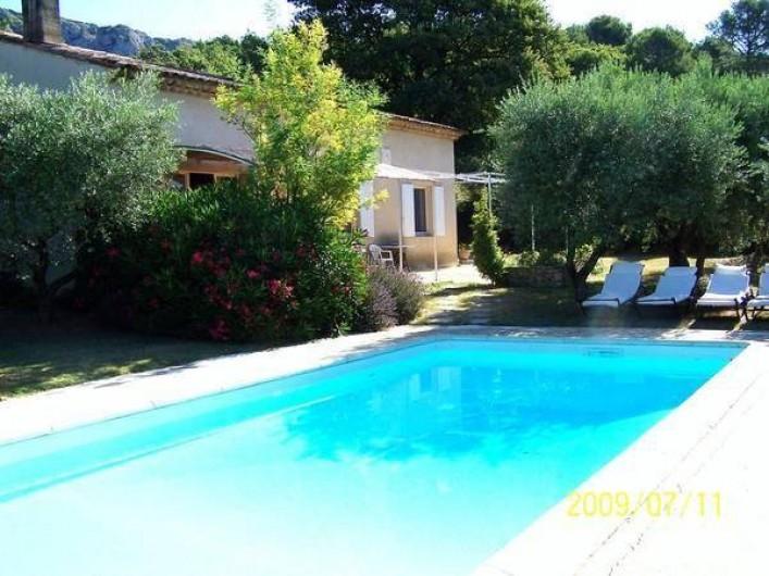 Location de vacances - Maison - Villa à Mérindol - Piscine et terrasse