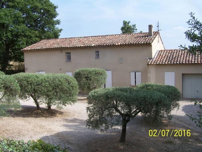 Location de vacances - Maison - Villa à Mérindol - Vue nord de la maison