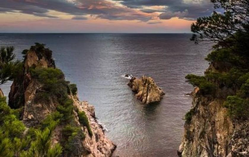 Location de vacances - Villa à Tamariu - Vue exceptionnelles sur la calanque Marquesa