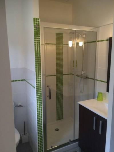 Location de vacances - Gîte à Saint-Agne - Cabinet de toilette avec douche et w-c