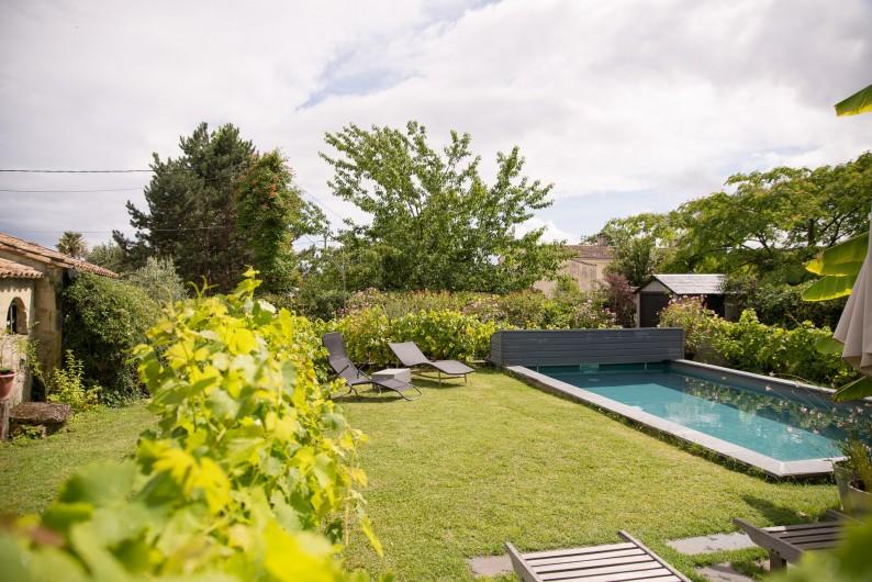 Location de vacances - Gîte à Bourg sur Gironde - vue piscine