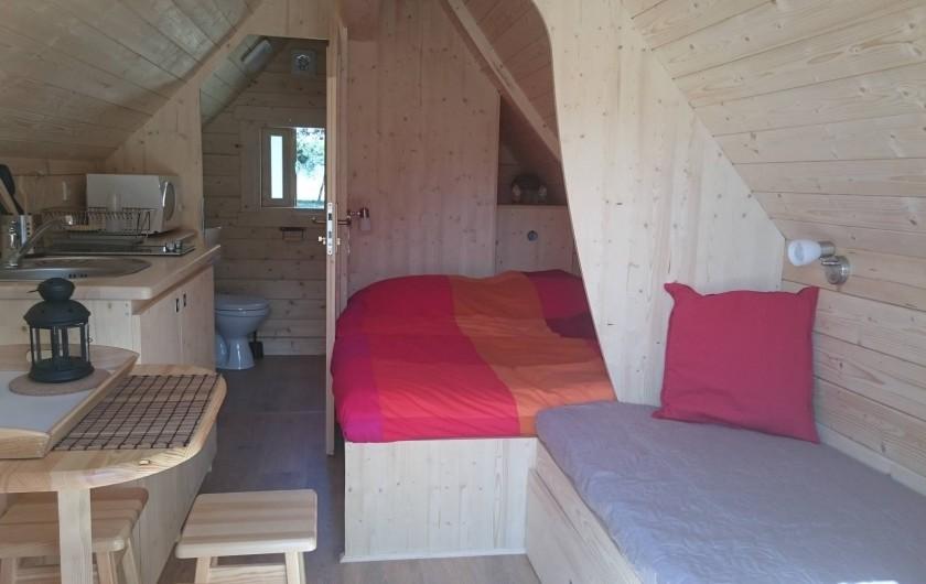 Location de vacances - Insolite à La Chapelle-Blanche-Saint-Martin - Cabane Tröll aménagement intérieur