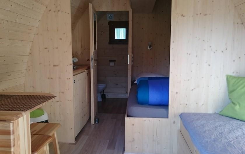 Location de vacances - Insolite à La Chapelle-Blanche-Saint-Martin - Cabane Forestière - installation intérieure