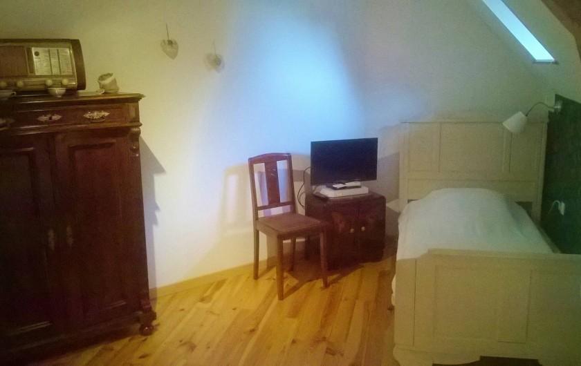 Location de vacances - Chambre d'hôtes à Marmoutier - Chambre Gutenberg lit simple