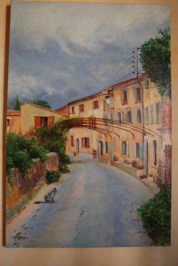 Location de vacances - Appartement à Six-Fours-les-Plages - ruelle vue par l'artiste