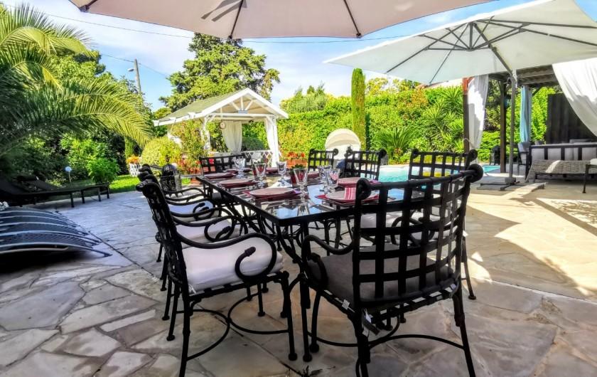 Location de vacances - Villa à Le Cannet - TABLE 8 PERSONNES