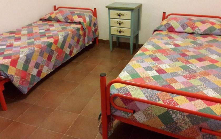 Location de vacances - Maison - Villa à Solanas - Seconda camera con letti gemelli oppure a castello o letto matrimoniale